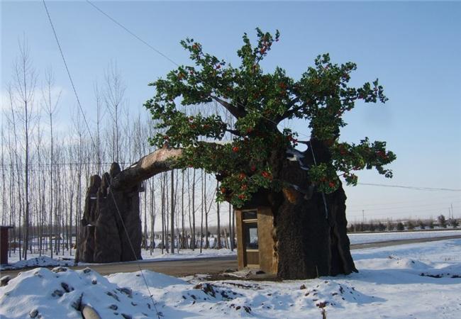 榆林假山假树
